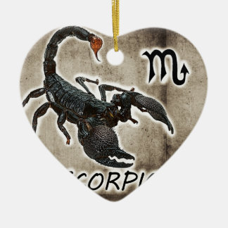 Ornamento De Cerâmica astrologia 2017 do scorpio