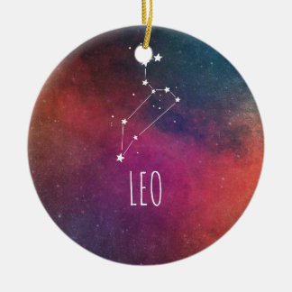 Ornamento De Cerâmica Astrologia de Leo