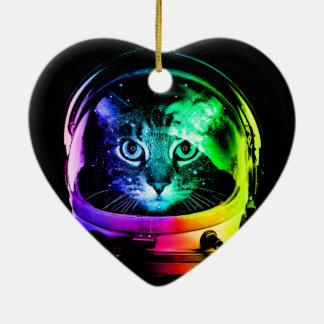 Ornamento De Cerâmica Astronauta do gato - gato do espaço - gatos