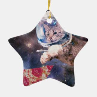 Ornamento De Cerâmica astronauta do gato - gatos engraçados - gatos no