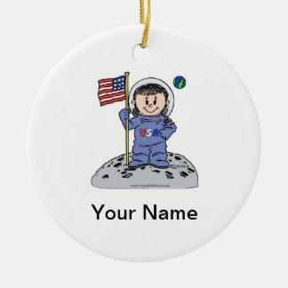 Ornamento De Cerâmica Astronauta futuro - fêmea