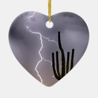 Ornamento De Cerâmica Ataque da monção do deserto de Sonoran