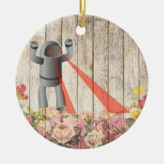 Ornamento De Cerâmica Ataque do robô