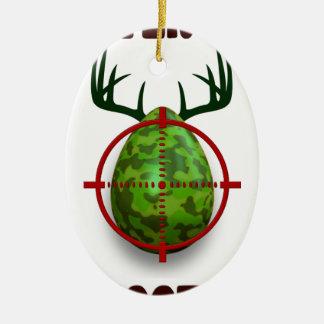 Ornamento De Cerâmica atirador do ovo da páscoa, desgin engraçado do