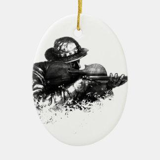 Ornamento De Cerâmica atirador furtivo do violino