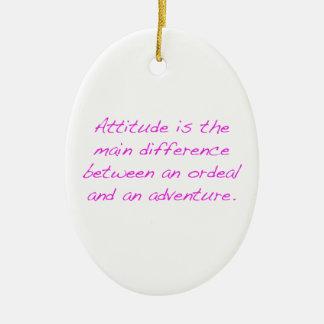 Ornamento De Cerâmica Atitude - calvário ou aventura