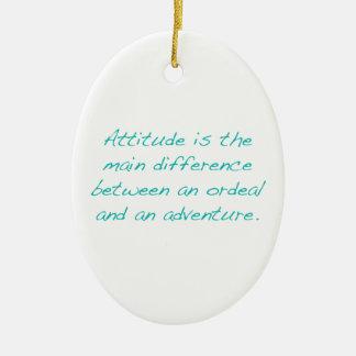 Ornamento De Cerâmica Atitude -- calvário ou aventura (verde)
