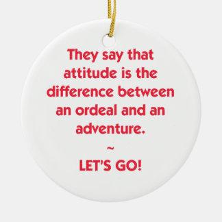Ornamento De Cerâmica Atitude - diferença entre o calvário e a aventura