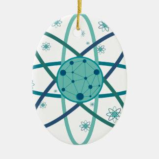 Ornamento De Cerâmica Átomo