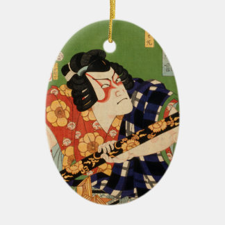 Ornamento De Cerâmica Ator japonês (#1) (impressão do japonês do