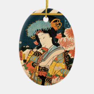Ornamento De Cerâmica Ator japonês (#2) (impressão do japonês do