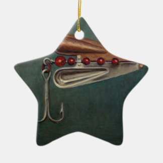 Ornamento De Cerâmica Atração da pesca de gancho