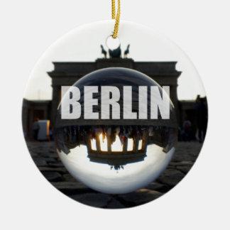 Ornamento De Cerâmica Através da bola de cristal, porta de Brandemburgo