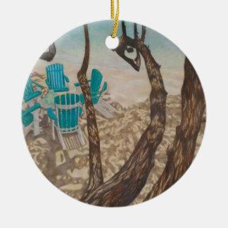 """Ornamento De Cerâmica """"Através das árvores, St John """""""
