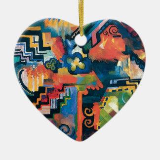 Ornamento De Cerâmica Auguste Macke - homenagem à arte moderna abstrata