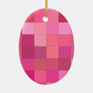 Ornamento De Cerâmica Aumentaram os quadrados coloridos