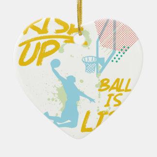 Ornamento De Cerâmica Aumente acima. A bola é vida. Treinador de Baller