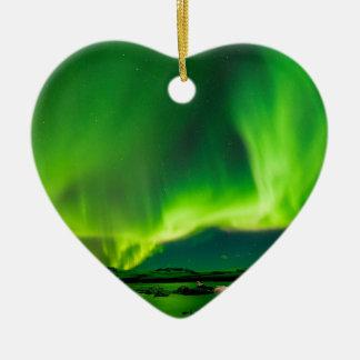 Ornamento De Cerâmica Aurora boreal de Islândia