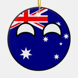 Ornamento De Cerâmica Austrália Geeky de tensão engraçada Countryball