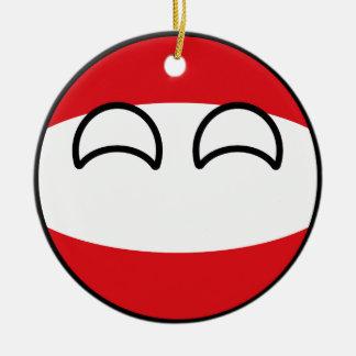 Ornamento De Cerâmica Áustria Geeky de tensão engraçada Countryball