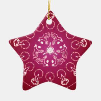 Ornamento De Cerâmica Auto espiral pagão de Wicca do Pentagram do