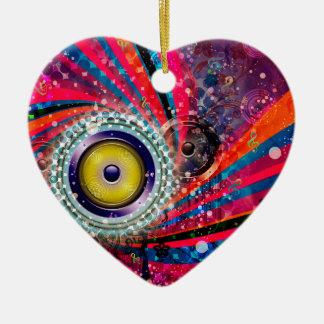Ornamento De Cerâmica Auto-falante altos do Grunge