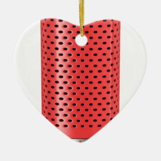 Ornamento De Cerâmica Auto-falante esperto vermelho