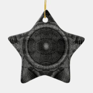 Ornamento De Cerâmica Auto-falante preto e branco da música