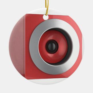 Ornamento De Cerâmica Auto-falante vermelho