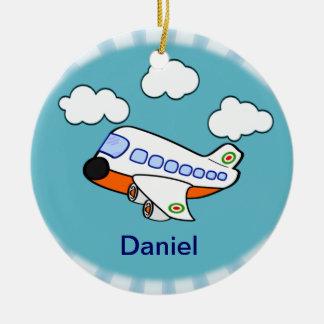 Ornamento De Cerâmica Avião dos desenhos animados
