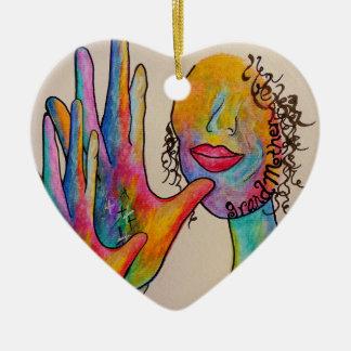 Ornamento De Cerâmica Avó do ASL