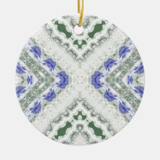 Ornamento De Cerâmica Azuis e cinzas