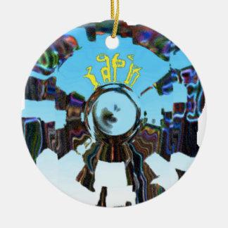 Ornamento De Cerâmica Azul abstrato