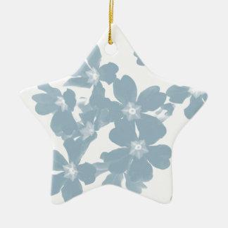 Ornamento De Cerâmica azul da prímula