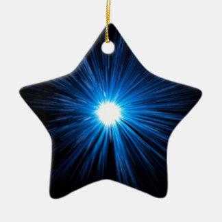 Ornamento De Cerâmica Azul da velocidade da urdidura