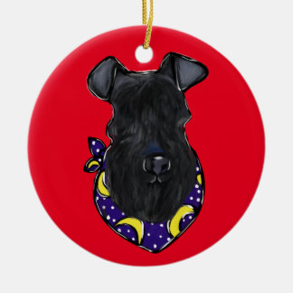 Ornamento De Cerâmica Azul de Kerry Terrier