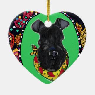 Ornamento De Cerâmica Azul de Kerry Terrier Cinco de Mayo