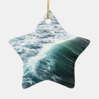 Ornamento De Cerâmica Azul de Oceano Pacífico