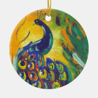 Ornamento De Cerâmica azul de pavão