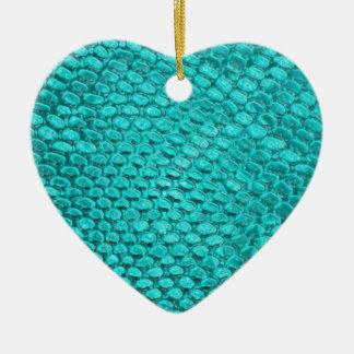 Ornamento De Cerâmica Azul de turquesa do réptil
