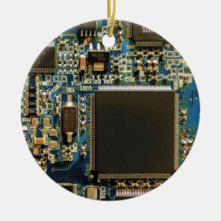 Ornamento De Cerâmica Azul do conselho de circuito do disco rígido do