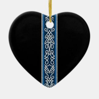 Ornamento De Cerâmica Azul do teste padrão de Viking