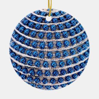 Ornamento De Cerâmica Azul perlado