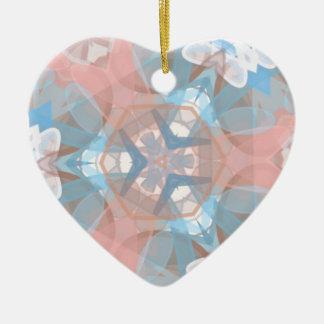 Ornamento De Cerâmica Azul Pinkish verdadeiro