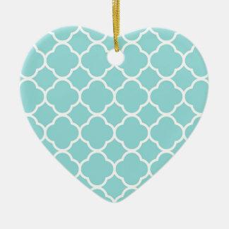 Ornamento De Cerâmica Azul Quatrefoil de Shell do Limpet