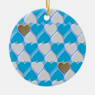 Ornamento De Cerâmica Azul, teste padrão bávaro branco