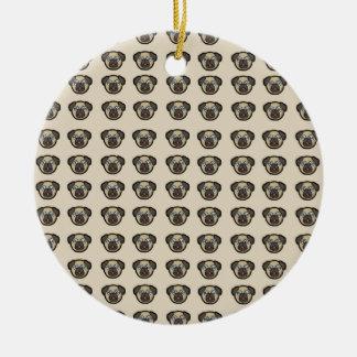 Ornamento De Cerâmica azulejo BG do pug