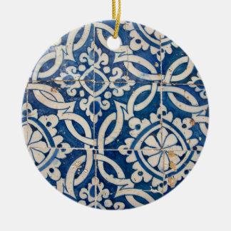 Ornamento De Cerâmica Azulejo do português do vintage