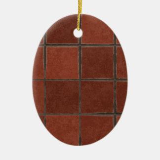 Ornamento De Cerâmica Azulejo vermelho