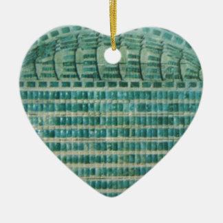Ornamento De Cerâmica azulejos azuis da cerceta